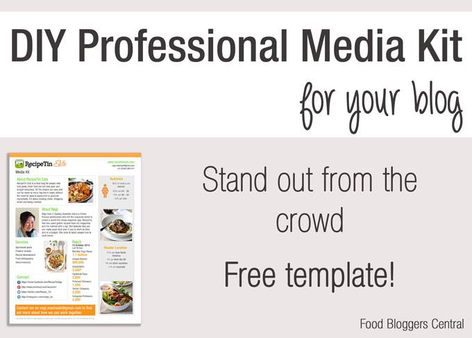 Free media kit template food bloggers central for Online media kit template
