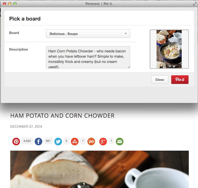 Default description for Pinterest