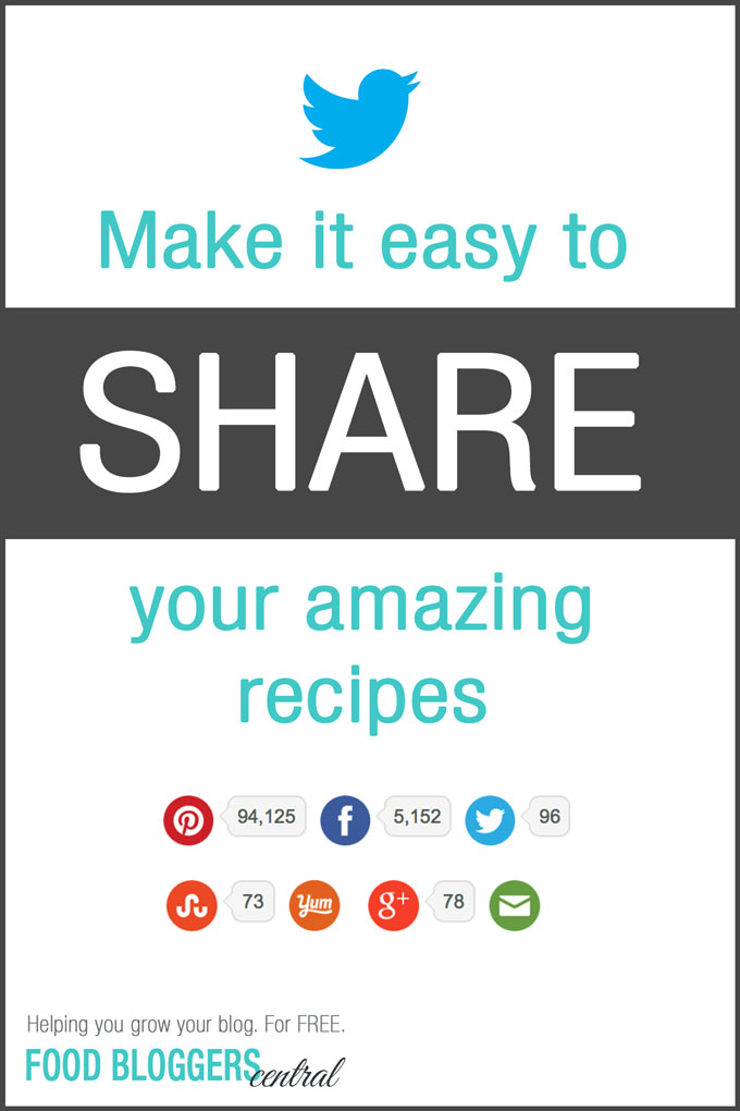 How to make it easy to SHARE your recipes